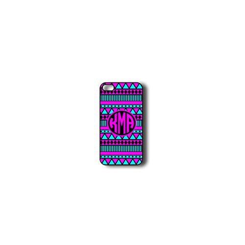 Krezy Case Monogram iphone 4 Case, Colorful aztec Pattern Monogram iphone 4 Case, Monogram iphone 4 Case, iphone...