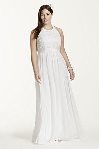 Wedding-Dress-Chiffon-A-line-with-Lace-Plus-Size-Halter-Top-Style-9SDWG0140