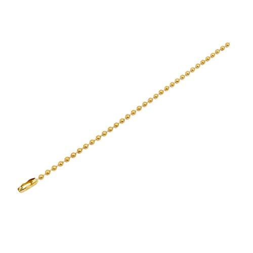 uxcell 2.4mm Dia Copper Beaded Connector Ball Key Chain Gold Tone 15cm ()