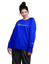 Champion Womens Plus-Size Fleece Crew Sweatshirt Sweater