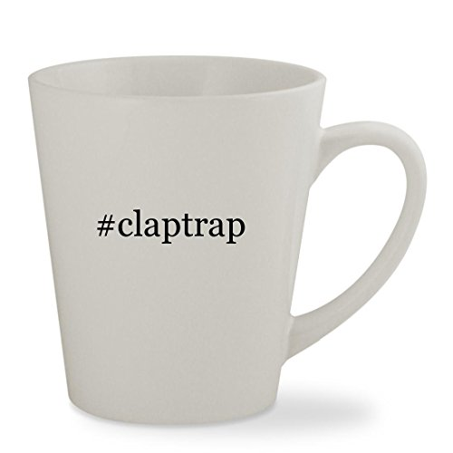 #claptrap - 12oz Hashtag White Sturdy Ceramic Latte Cup Mug