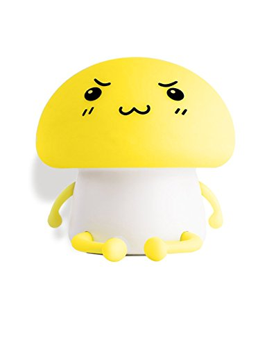 Nursery Lamp – Rechargeable Baby Mushroom Light, Tap Control LED Light, Adjustable Brightness, Birthday Gift for Women Girl Friend Children, Night Light for Kids Mushroom Accent Lamp