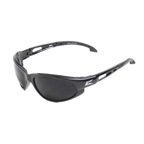 Edge Eyewear SW116 Dakura Safety Glasses, Black with Smoke Lens