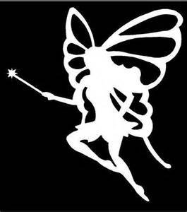 "Fairy Princess Vinyl Decal Sticker|WHITE|Cars Trucks Vans SUV Laptops Wall Art|5.5"" X 5""