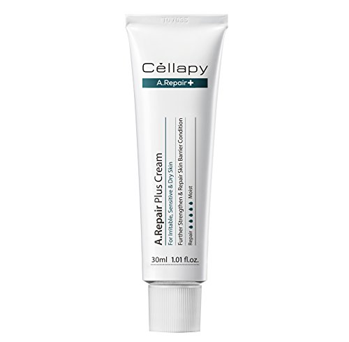 Cellapy A. Repair Plus Cream 1.01 fl.oz. for Irritable, Sensitive & Dry Skin | Stem Cell factors MGF, Peptides | Brightening, Wrinkle Declining 30ml