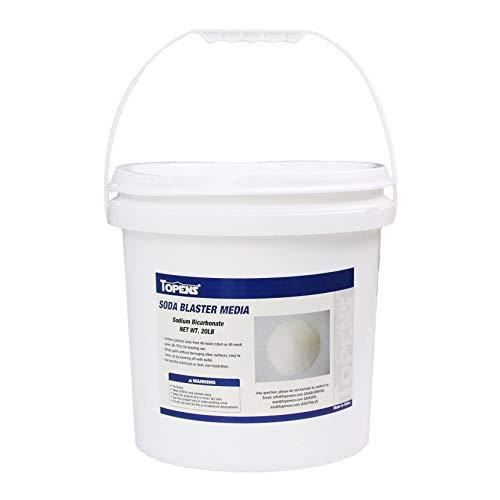 TOPENS Abrasive Soda Blaster Media 40 Mesh 20 lbs. for Sand Blast Cabinet Blasting Fine Abrasive Media Sodium Bicarbonate (Soda Blaster Media)