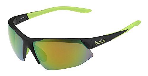 Bolle Breakaway Sunglass with Brown Emerald Oleo AF Lens, Matte ()