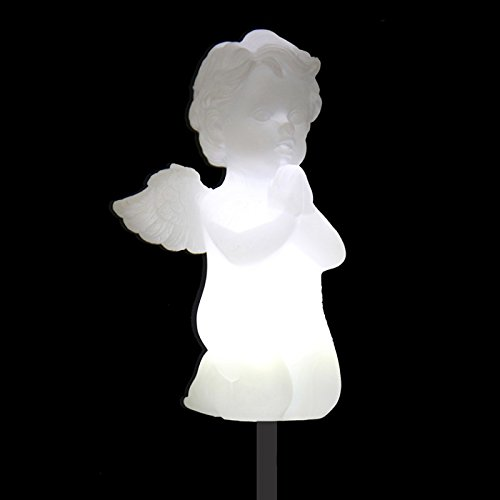 Solar Cherub Cupid Angel Lights, Garden Stake Outdoor Yard Decor Landscape LED Lamp Lights, Great (Angel Stake)