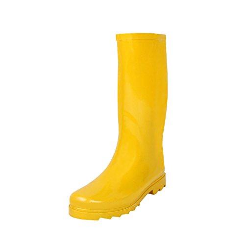 Rain-Boots, Yellow Rubber, 8 (Rain Boots Heel)