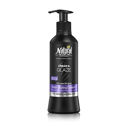 Natural Formula Professional Hair Moisturizer Cream With Glaze For Round, Fresh & Glowing Curls Paraben and Sulfate Free 13.5 Fl -