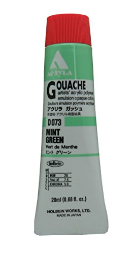 Holbein Acryla Gouache Artists Acrylic Polymer Emulsion, 20ml Mint Green (D073)