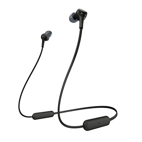 Sony WI-XB400 Wireless Extra Bass in-Ear Headphones with 15 Hours Battery Life, Quick Charge, Magnetic Earbuds, Tangle Free Cord, Bluetooth Ver 5.0, Headset with Mic for Phone Calls – Black