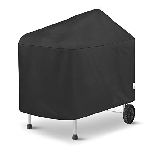 SunPatio Outdoor Waterproof Grill Cover for Weber Performer Premium Deluxe 22 Inch Grills and More, Heavy Duty Barbecue Cover, Compared to Weber 7152 BBQ Cover, Black