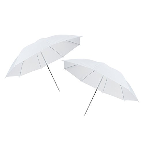 uxcell 43'' White Soft Umbrella, Flash Translucent White Soft Umbrella for Photography Video Studio (2 Packs) by uxcell