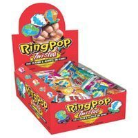 Topps Ring Pop Twisted Fruit Pop Candy - 24 Ea (Sucker Rings)