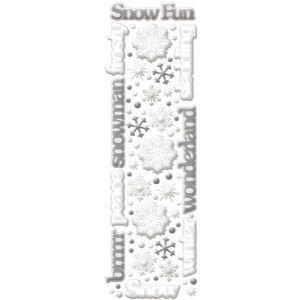 (K & Company Cloud 9 Rain Dot Dimensional Epoxy Stickers - Snow Icons)