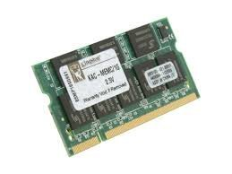 Lot of 15 Kingston Technology 1 GB Laptop Memory, PC2-4200 DDR2-533 200PIN SODIMM Memory Module KAC-MEME/1G