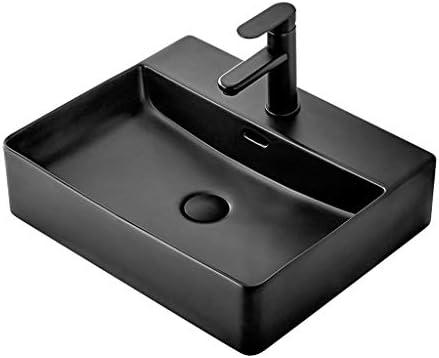 XiuHUa 洗面化粧台小さなアパートホームセンターシンプルセラミックステージ技術矩形浴室洗面台バルコニー洗濯プール浴室洗面500x420x130mm ホームセンター (Size : 500x420x130mm)