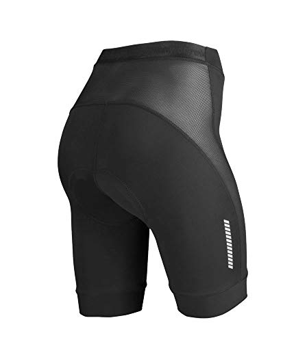 Women's Elite Cycling Shorts - Made in The USA (X-Large, Black) - Elite Jersey Shorts