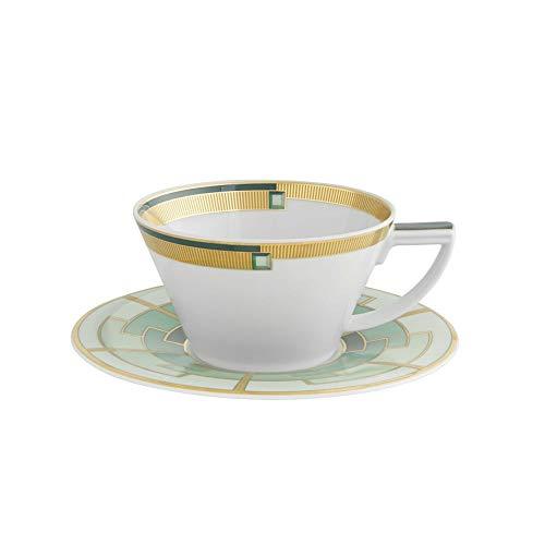 - Vista Alegre Emerald Tea Cup and Saucer