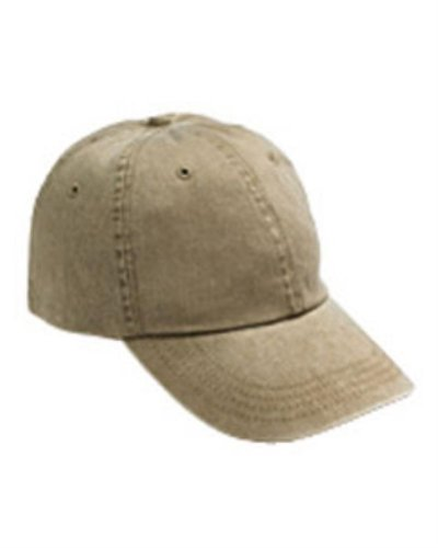 Anvil - 6-Panel Pigment-Dyed Twill Cap >> One size,KHAKI