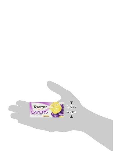 Trident Layers Sugar Free Gum (Grape Lemonade, 14-Piece, 12-Pack)
