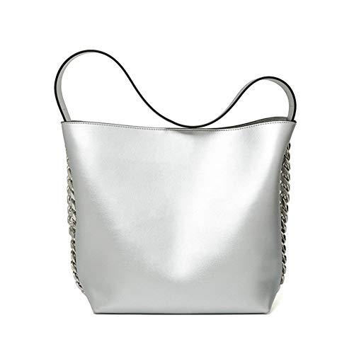 Cadena Cubo De De Moda White De Bolso Compras De Bolso Bolso Bolso Bolso Metal De Gran Letras Mujeres Viaje Para De De Simple Capacidad De f01xP