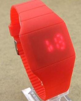 Touch Screen Watch Colorful LED Watch Children Watch (red)