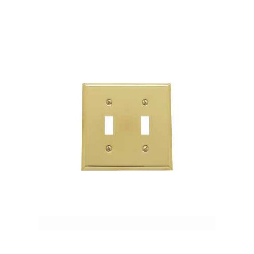 Polished Toggle (Baldwin 4761.030.CD Classic Square Beveled Edge Double Toggle Switch Plate, Polished Brass - Lacquered)