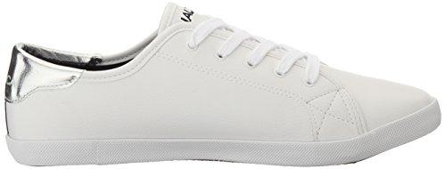 Fashion Sneaker Nautica Women's Lanyard Silver White gzOgq8Bxw