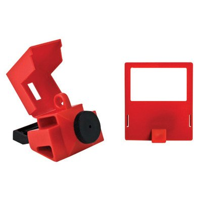 Brady Red Polypropylene & Nylon Clamp-On 480/600 Volt Breaker Lockout by Brady USA