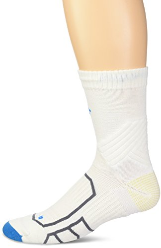 Columbia Men's Trail Performance Quarter Socks, White, 10-13/Shoe Size 6-12
