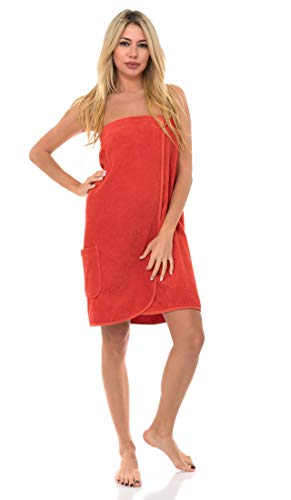 TowelSelections Women's Wrap, Shower & Bath, Terry Spa Towel Large Camellia
