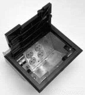 Wiremold Legrand AF1-KT Raised Floor Box w. Black Tile Cover & Trim (Wiremold Floor Box)