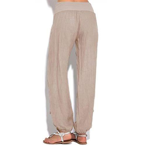 Moda 2 Tallas Elástico Pilates Sólido Harén Cómodo Para Fit Mujer Pantalones Slim Grandes Suave 3xl Cintura Casual Deportes S Pantalón Color Yoga Hibote U48Bqn