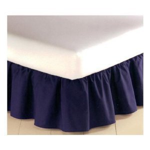 Mainstays 180 Thread Count Bedskirt Full Size Color Navy by Mainstays