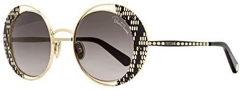 عینک آفتابی زنانه مدل  Roberto Cavalli Round Sunglasses RC1126 32B Gold/Black 53mm 1126