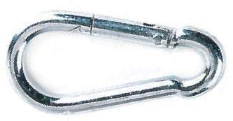 5/16 Inch x3-1/8 Inch Oal Snap Hook Carabineers, Zinc Plated (150/Pkg)