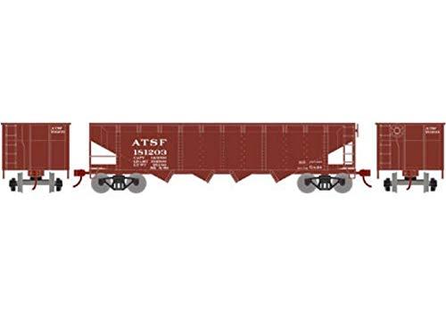 Athearn HO 40' 4-Bay Offset Hopper w Coal Load SF #181203