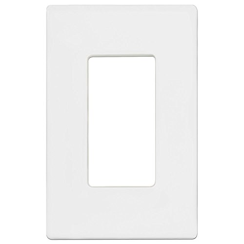 Enerlites SI8831-W-10PCS Screwless Decorator Wall Plates Child Safe Outlet Covers, 1-Gang Standard Size, Unbreakable Polycarbonate Thermoplastic, White (10 Pack) by ENERLITES (Image #2)