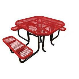46 Inch Octagonal Picnic Table - Leisure Craft 46