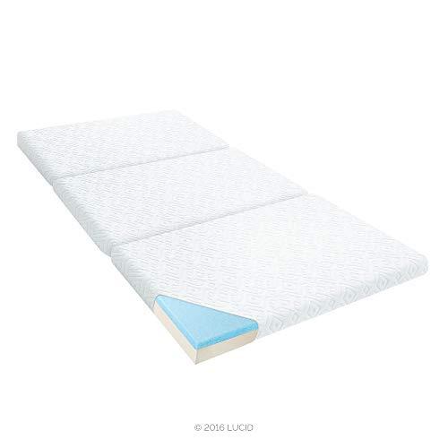 """LUCID 3"""" Folding Gel Memory Foam Mattress, Twin"""