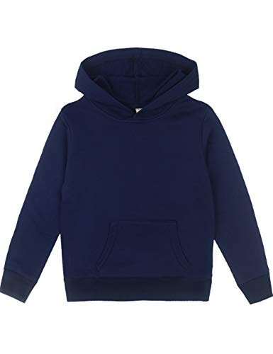 Spring&Gege Youth Solid Pullover Sport Hoodies Soft Kids Hooded Sweatshirts for Boys and Girls Size 9-10 Years ()
