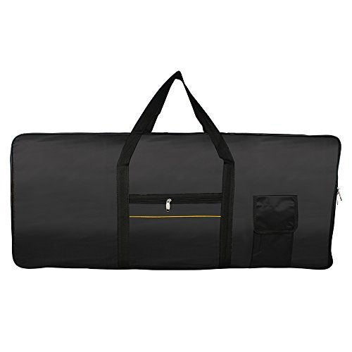 61 Key Electronic Keyboard Bag Black Case Oxford Travel Bag - 3