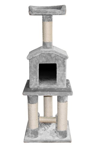 Europet-Bernina-Classic-Eco-Ceylan-431-421406-Cat-Scratching-Post-40-x-40-x-108-cm-Grey