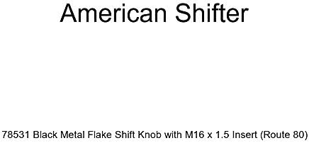 Yellow Pie American Shifter 243448 Red Flame Metal Flake Shift Knob with M16 x 1.5 Insert
