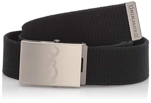 Browning Men's Basic Web Belt   Black   One Size Fits Most (Browning Belted Belt)