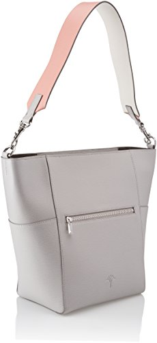 JOOP! Grano Colorblocking Kara Hobo Mvz - Borse a secchiello Donna, Grau (Light Grey), 15x30x20 cm (B x H T)