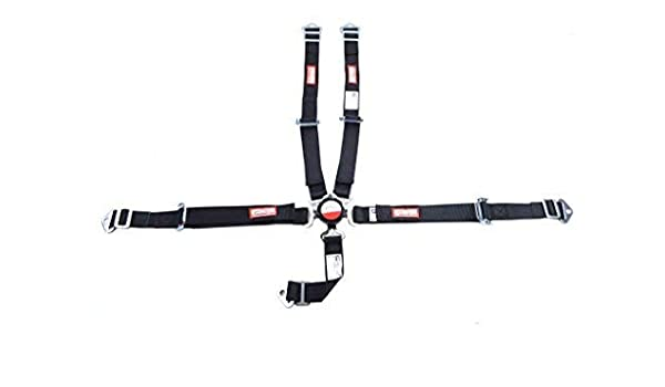 JR DRAGSTER RACING HARNESS 5 POINT SFI 16.1 UNIVERSAL BELT BOLT OR WRAP IN BLACK