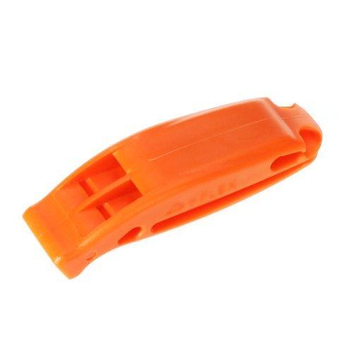 Primi double fréquence d'urgence Sifflet Sifflet de survie pour extérieur (Orange)